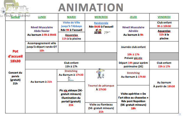 animations moissac